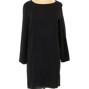 The Row Black Midi Casual LBD Dress Long Sleeve